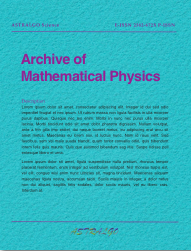 ASTRALGO Science AMP - Archive of Mathematical Physics